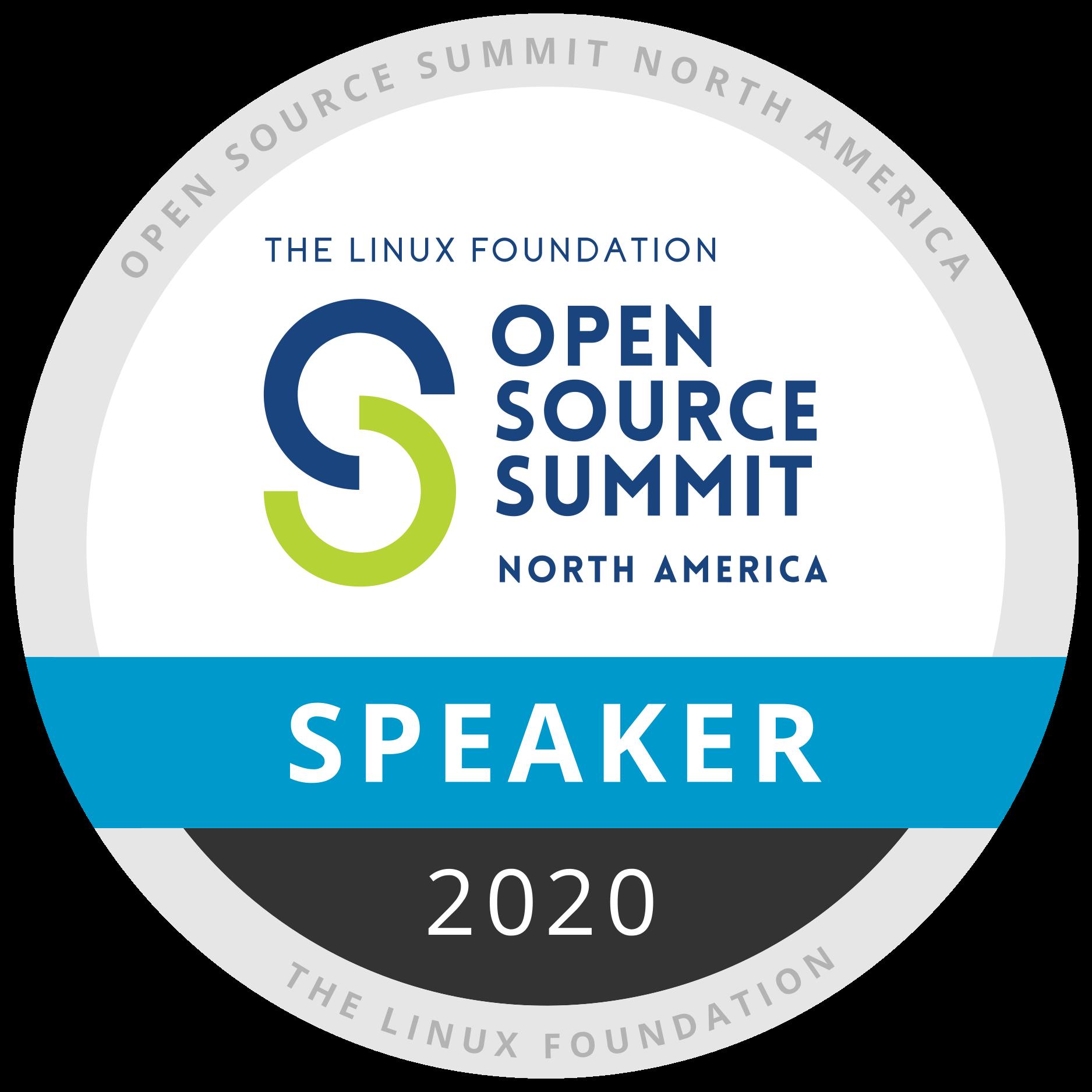 Speaker: Open Source Summit North America 2020