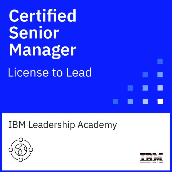 IBM Certified Senior Manager