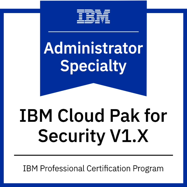 IBM Cloud Pak for Security V1.x Administrator Specialty