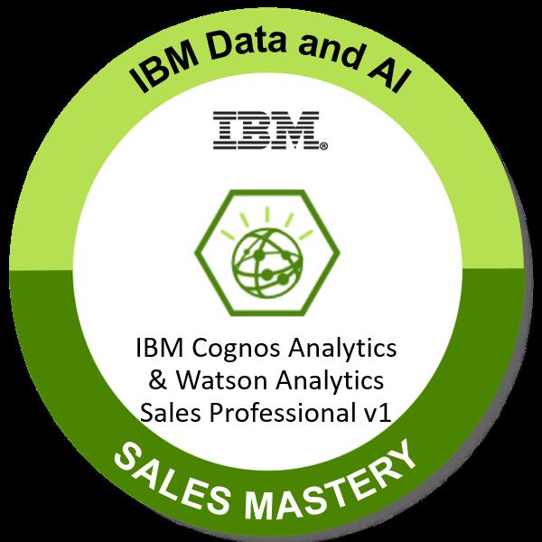 IBM Cognos Analytics & Watson Analytics Sales Professional v1