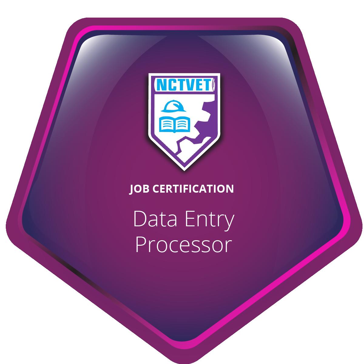 Data Entry Processor (Job Certification) J02ITI20119