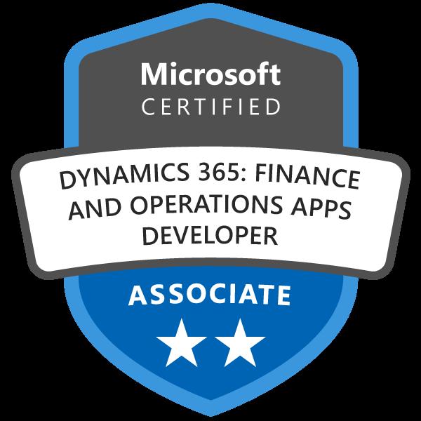 Microsoft Certified: Dynamics 365: Finance and Operations Apps Developer Associate
