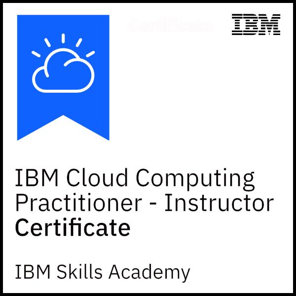 IBM Cloud Computing Practitioner - Instructor Certificate