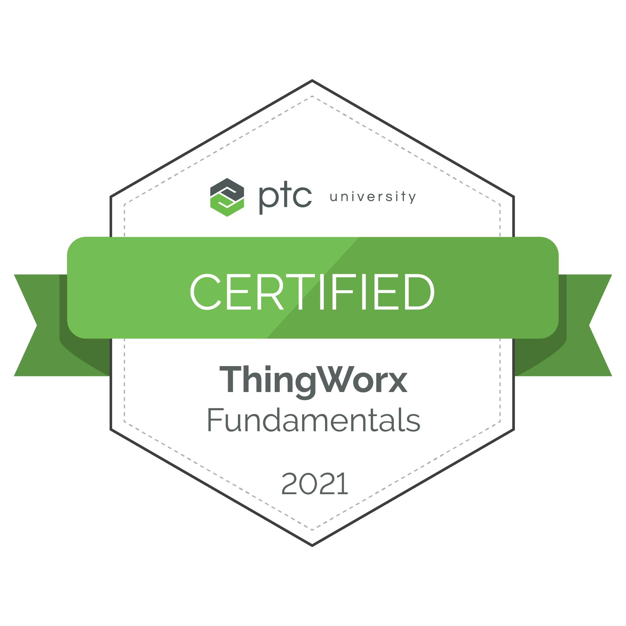 ThingWorx Fundamentals Certification 2021