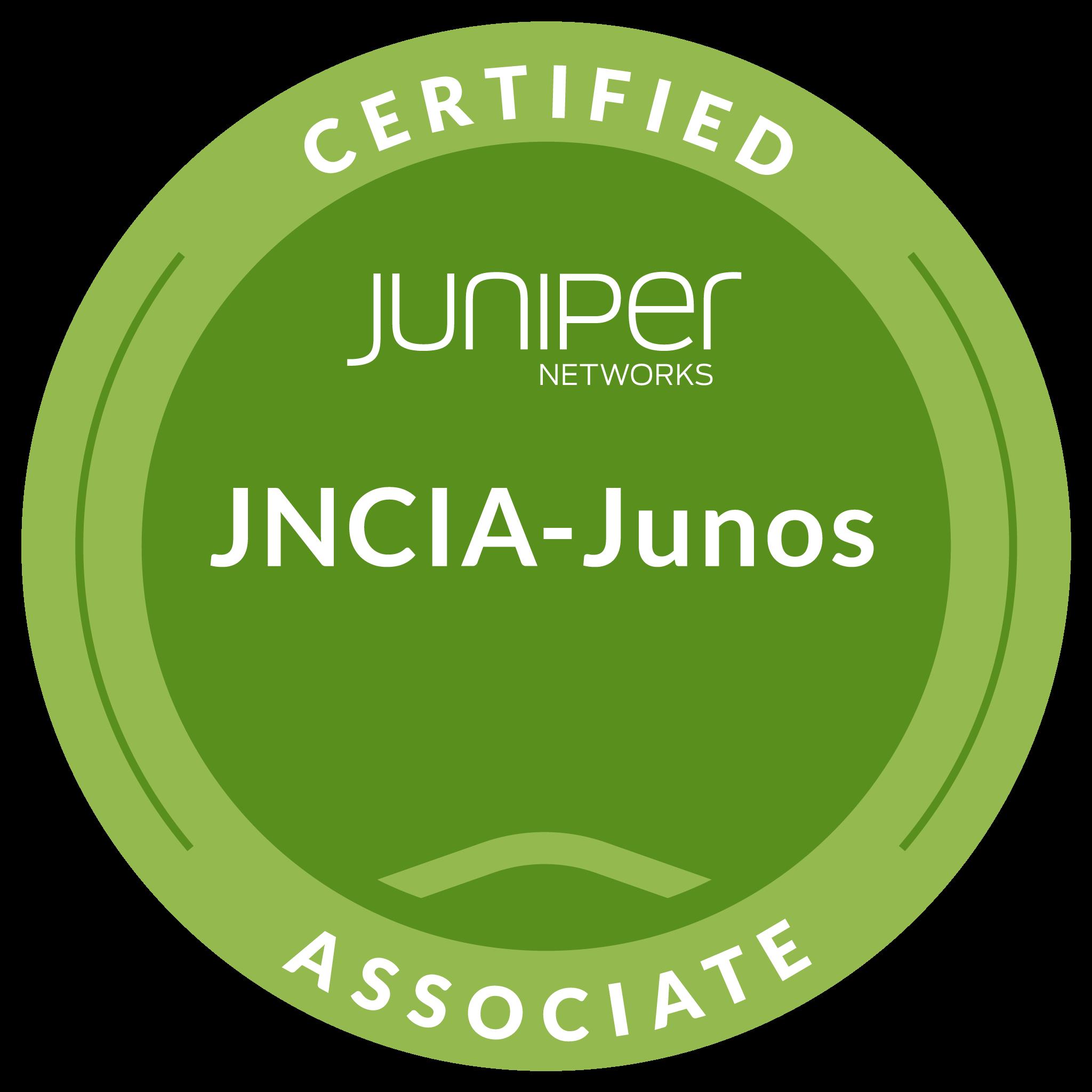 Juniper Networks Certified Associate, Junos (JNCIA-Junos)