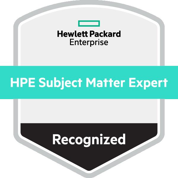 HPE Recognized Subject Matter Expert