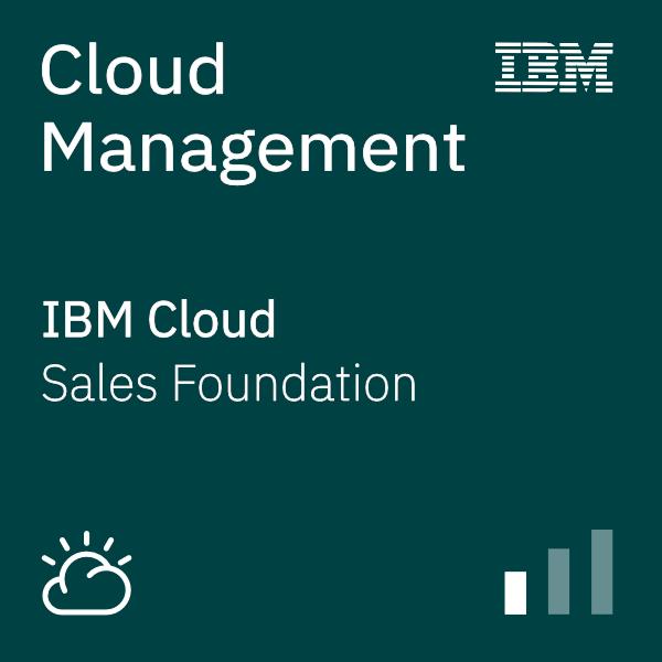Cloud Management Sales Foundation