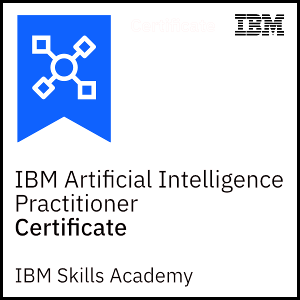 IBM Artificial Intelligence Practitioner - Certificate