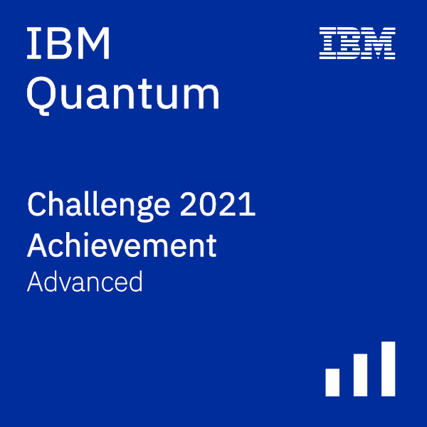 IBM Quantum Challenge 2021 Achievement - Advanced
