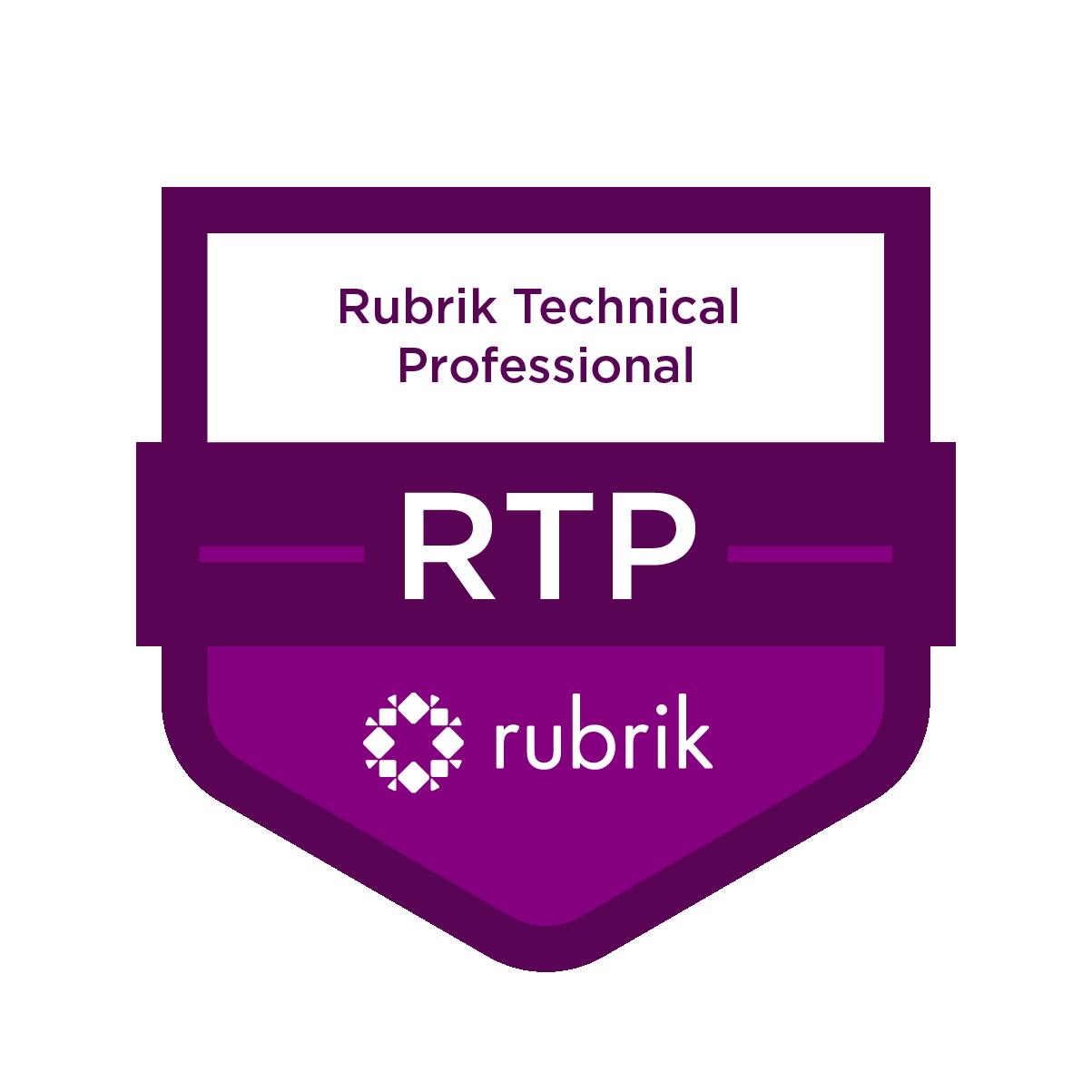 RTP - Rubrik Technical Professional