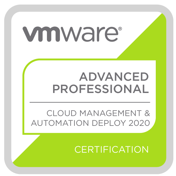 VMware Certified Advanced Professional - Cloud Management and Automation Deployment 2020