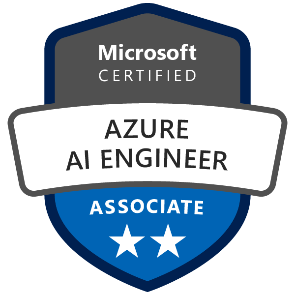 Microsoft Certified: Azure AI Engineer Associate