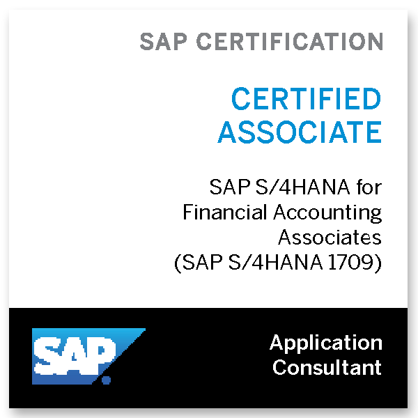 SAP Certified Application Associate - SAP S/4HANA for Financial Accounting Associates 1709