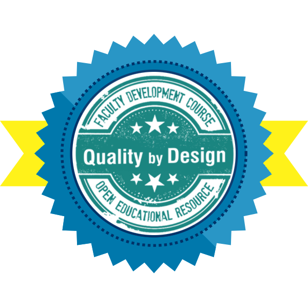 Quality by Design (QbD) Course Completer (with distinction)
