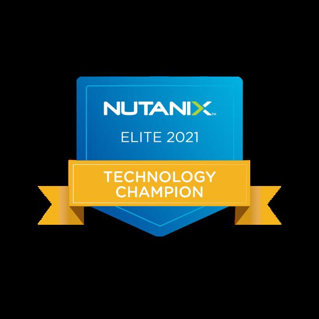 Nutanix Technology Champion - Elite (2021)
