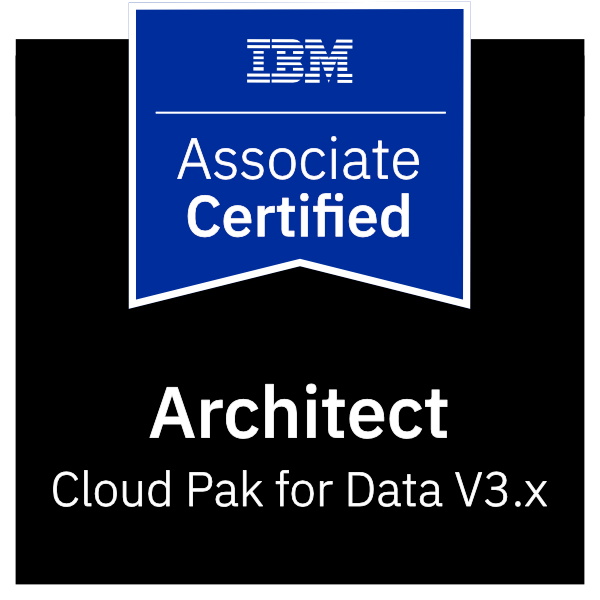 IBM Certified Associate Architect - Cloud Pak for Data V3.x