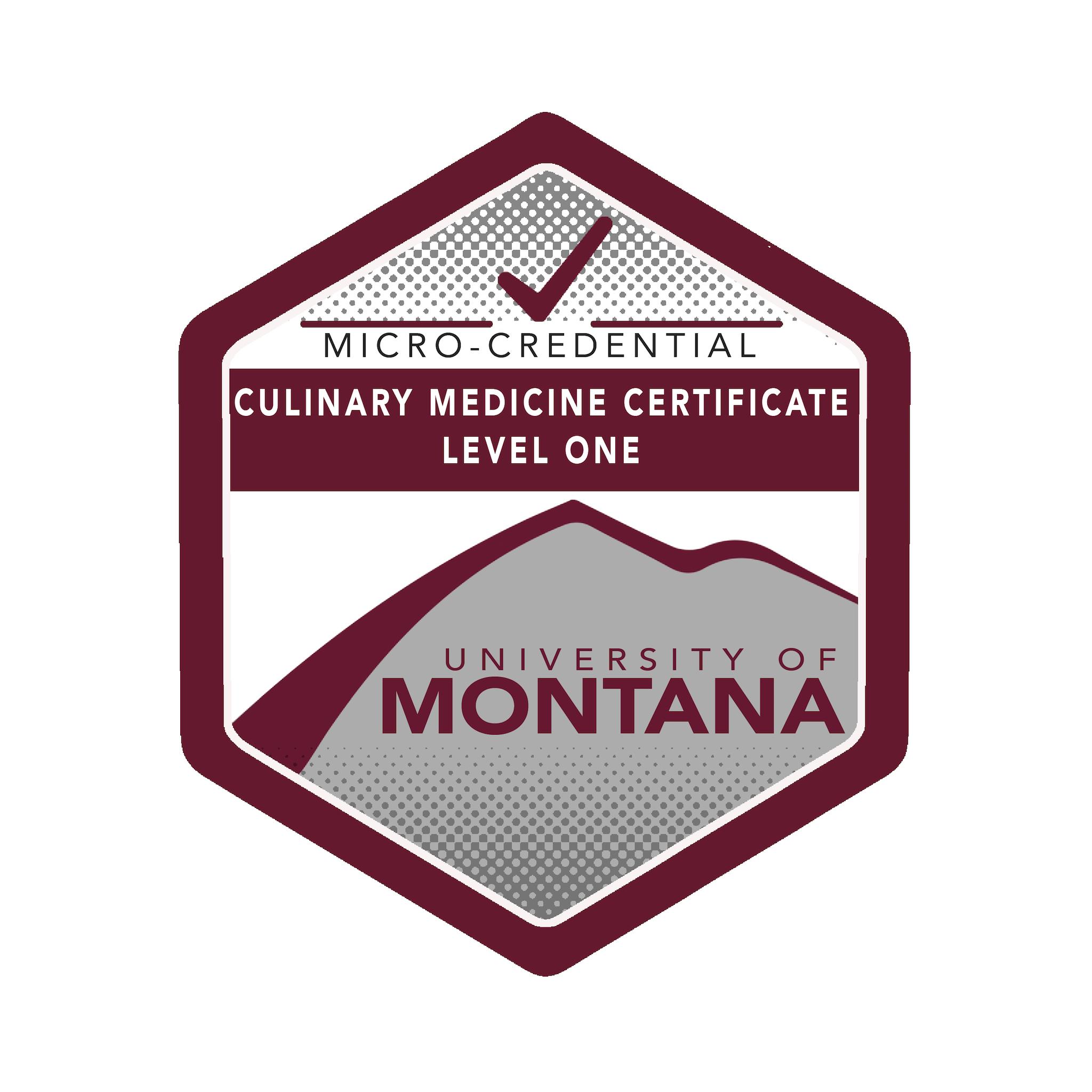 Culinary Medicine Certification Level 1