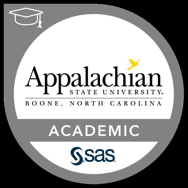 SAS-Appalachian State University Academic Specialization in Business Analytics