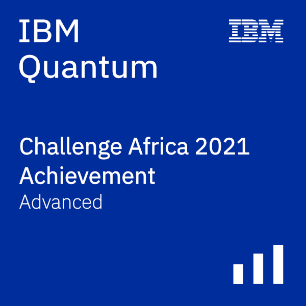 IBM Quantum Challenge Africa 2021 Achievement