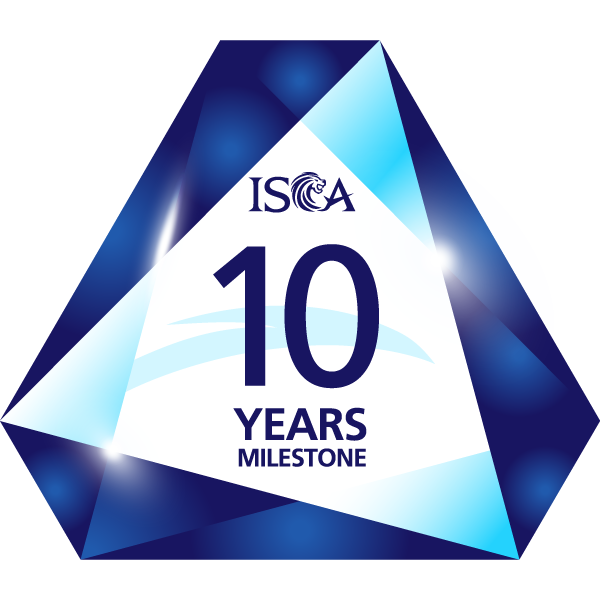 ISCA 10 Years Membership Milestone Badge
