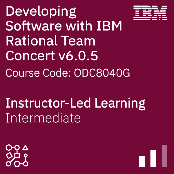 Developing Software with IBM Rational Team Concert v6.0.5 (IBM Engineering Workflow Management) - Code: ODC8040G
