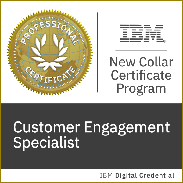 IBM New Collar: Customer Engagement Specialist