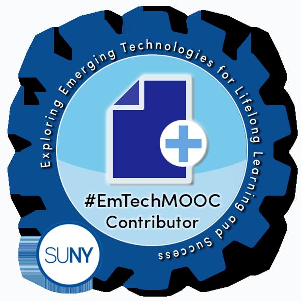 SUNY #EmTechMOOC - EmTechWIKI Contributor
