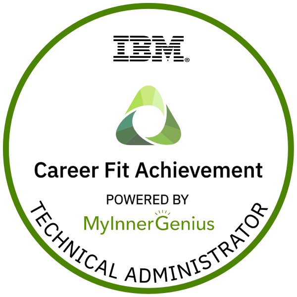 Technical Administrator Career Fit Achievement