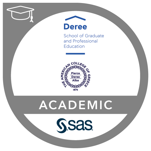 SAS – Deree American College of Greece Joint Certificate in Business Analytics and Data Mining