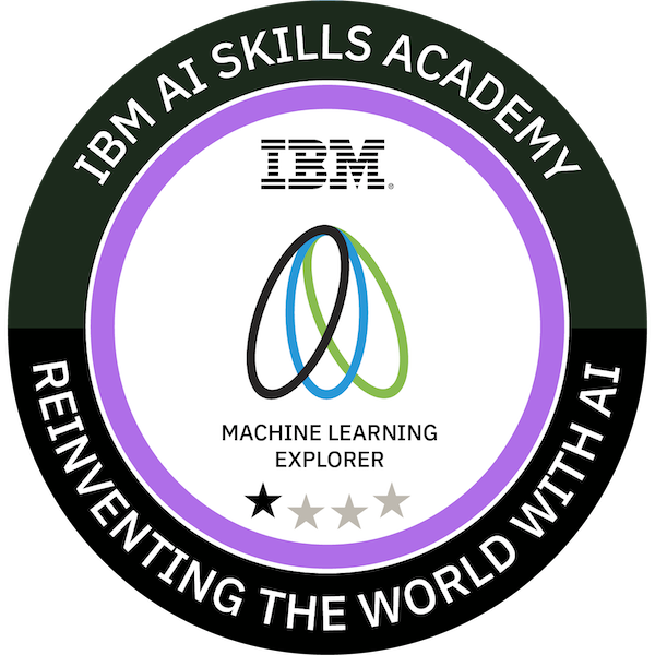 IBM AI Skills Academy Machine Learning Explorer