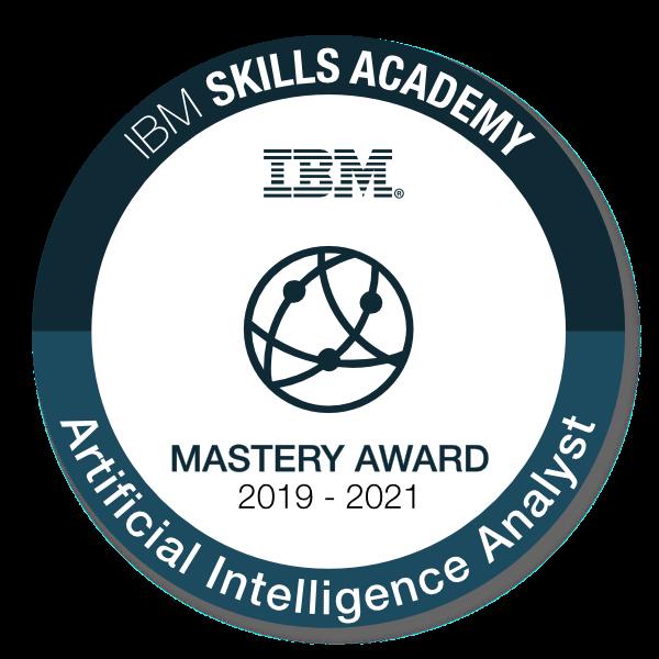 Artificial Intelligence Analyst - Mastery Award 2019