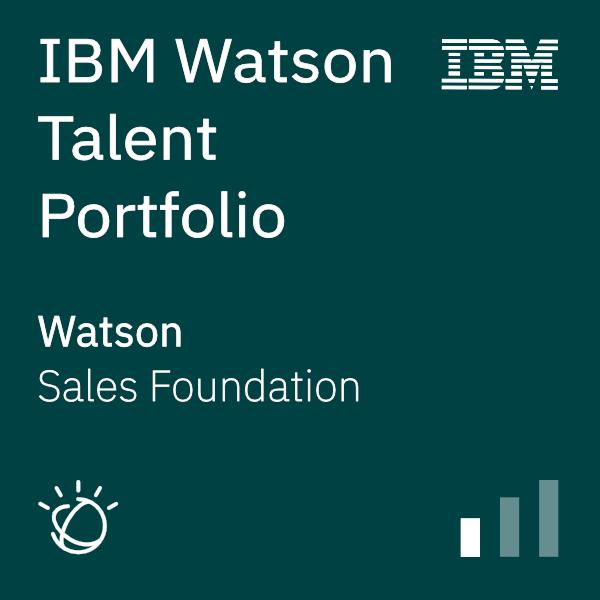 IBM Watson Talent Portfolio Sales Foundation