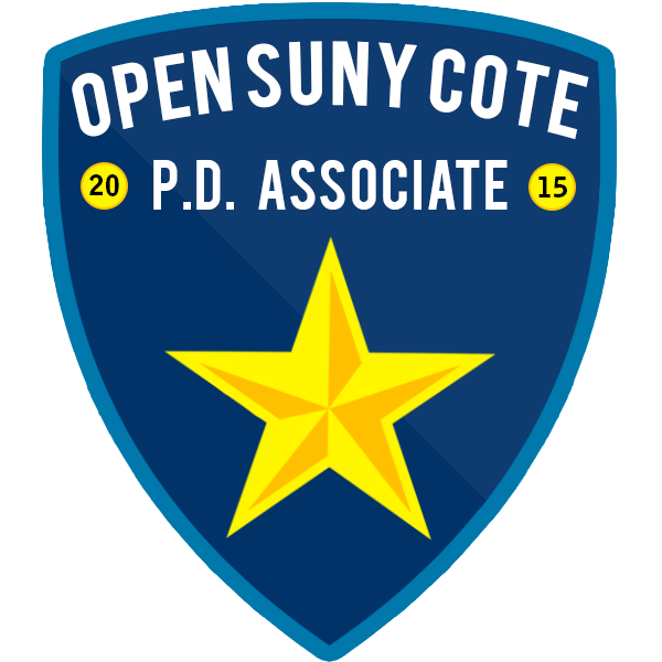 Open SUNY COTE Professional Development (PD) Associate