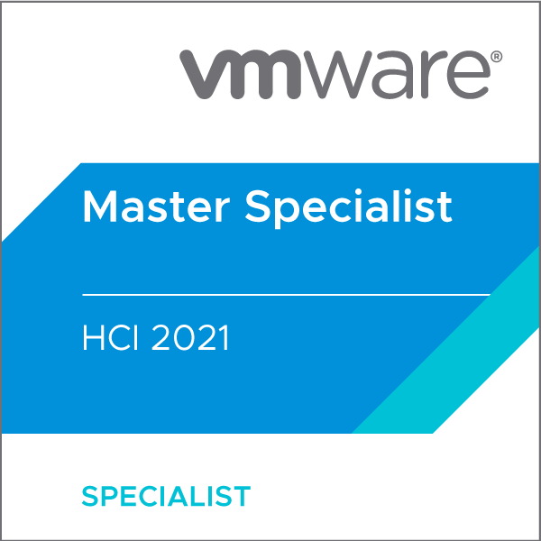 VMware Certified Master Specialist - HCI 2021