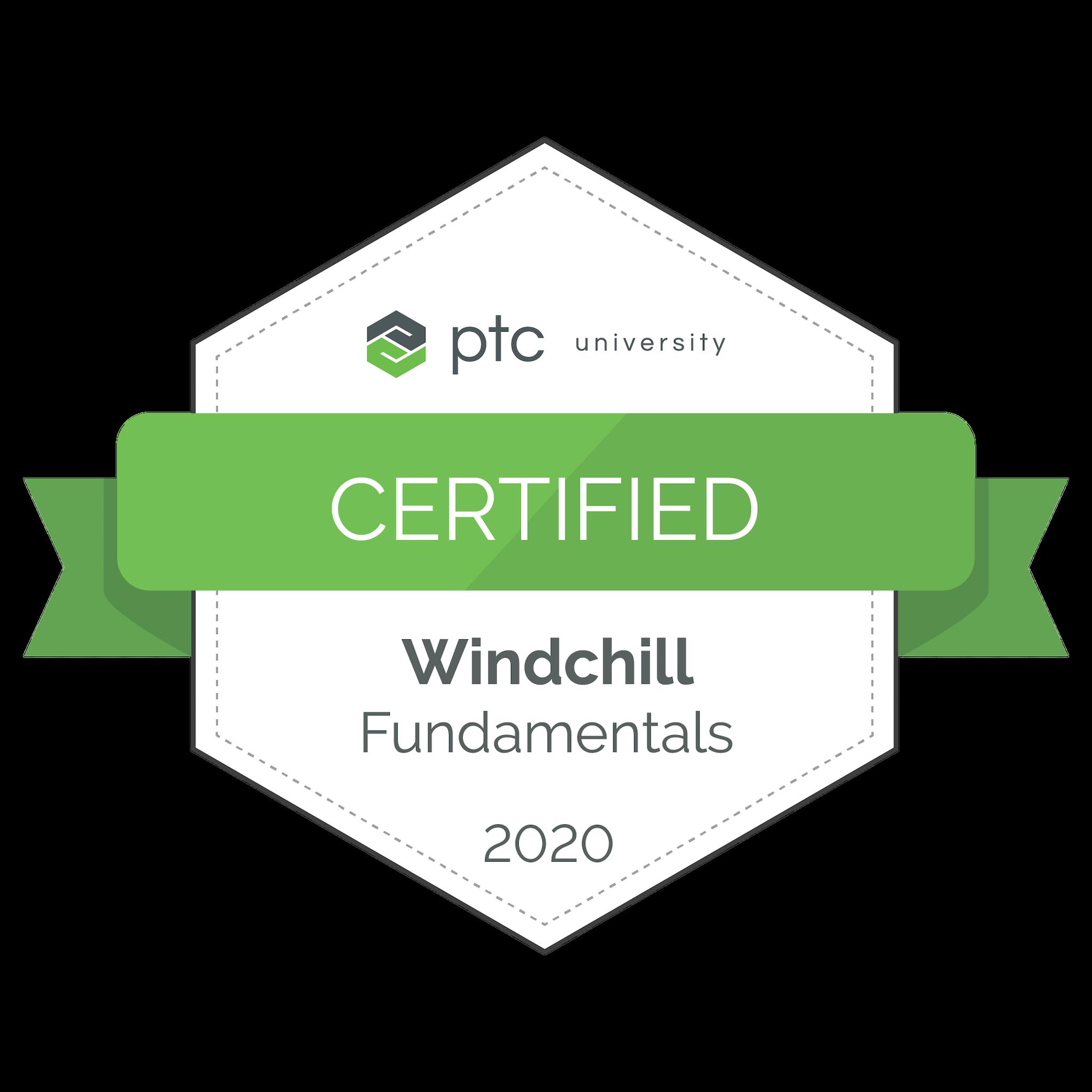 Windchill Fundamentals Certification 2020