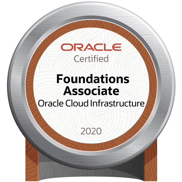 Oracle Cloud Infrastructure Foundations 2020 Certified Associate - JPN