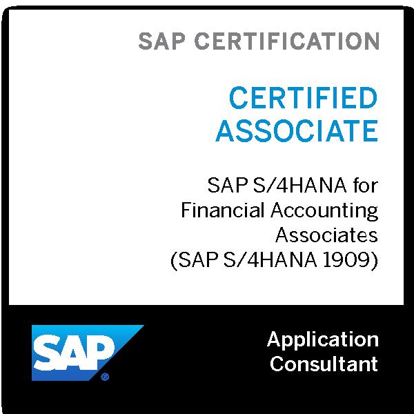 SAP Certified Application Associate - SAP S/4HANA for Financial Accounting Associates (SAP S/4HANA 1909)