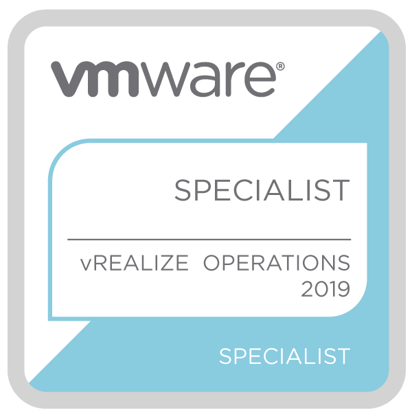 VMware Specialist - vRealize Operations 2019