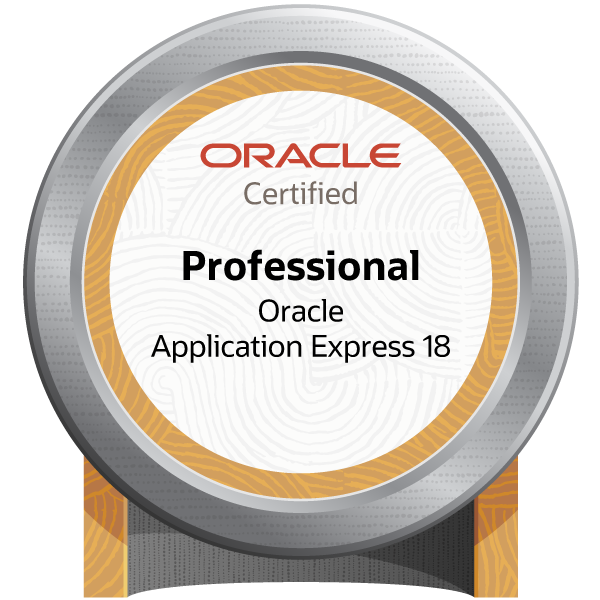 Oracle Application Express 18: Developer Certified Professional