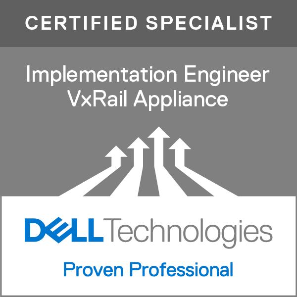 Specialist – Implementation Engineer, VxRail Appliance Version 1.0