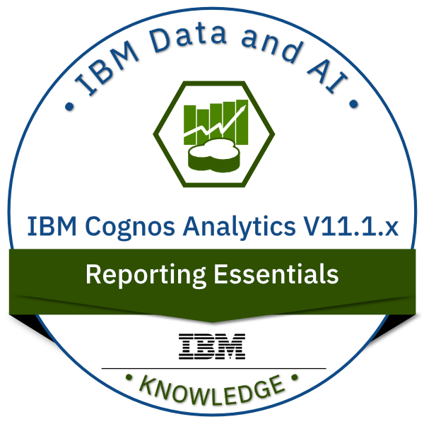 IBM Cognos Analytics V11.1.x Reporting Essentials