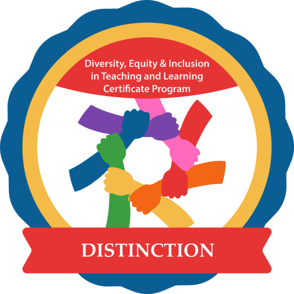 Diversity, Equity & Inclusion in Teaching and Learning Certificate with Distinction