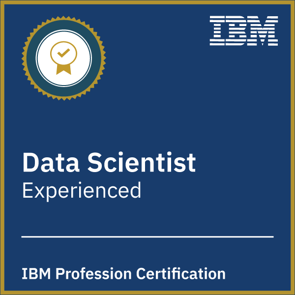 Data Science Profession Certification - Level 1 Experienced