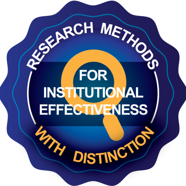 Research Methods for Institutional Effectiveness with Distinction