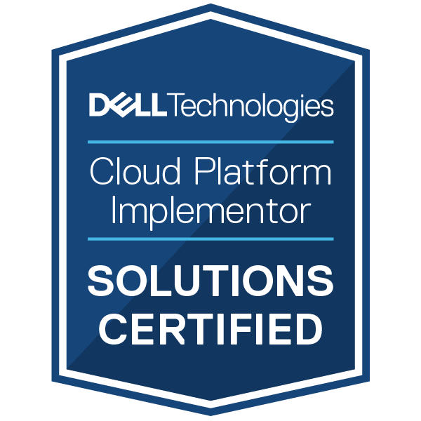 Dell Technologies Cloud Platform Implementor 2020