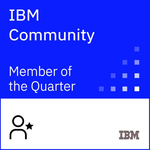IBM Community Member of the Quarter