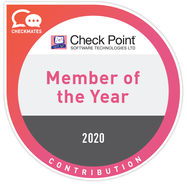 Check Point CheckMates Member of the Year 2020