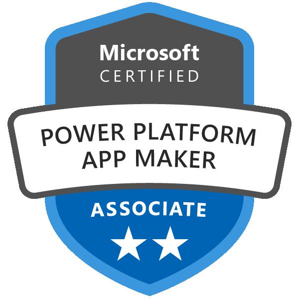 Microsoft Certified: Power Platform App Maker Associate