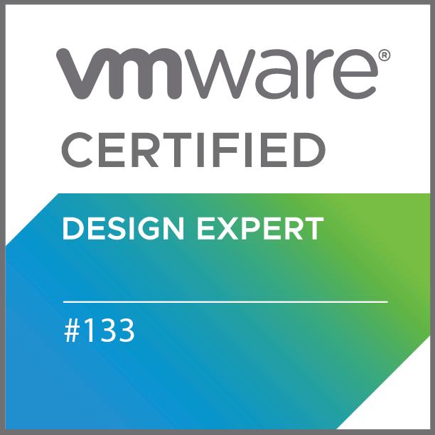 VMware Certified Design Expert #133