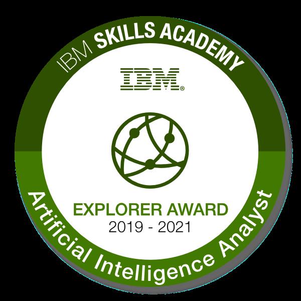 Artificial Intelligence Analyst - Explorer Award 2019